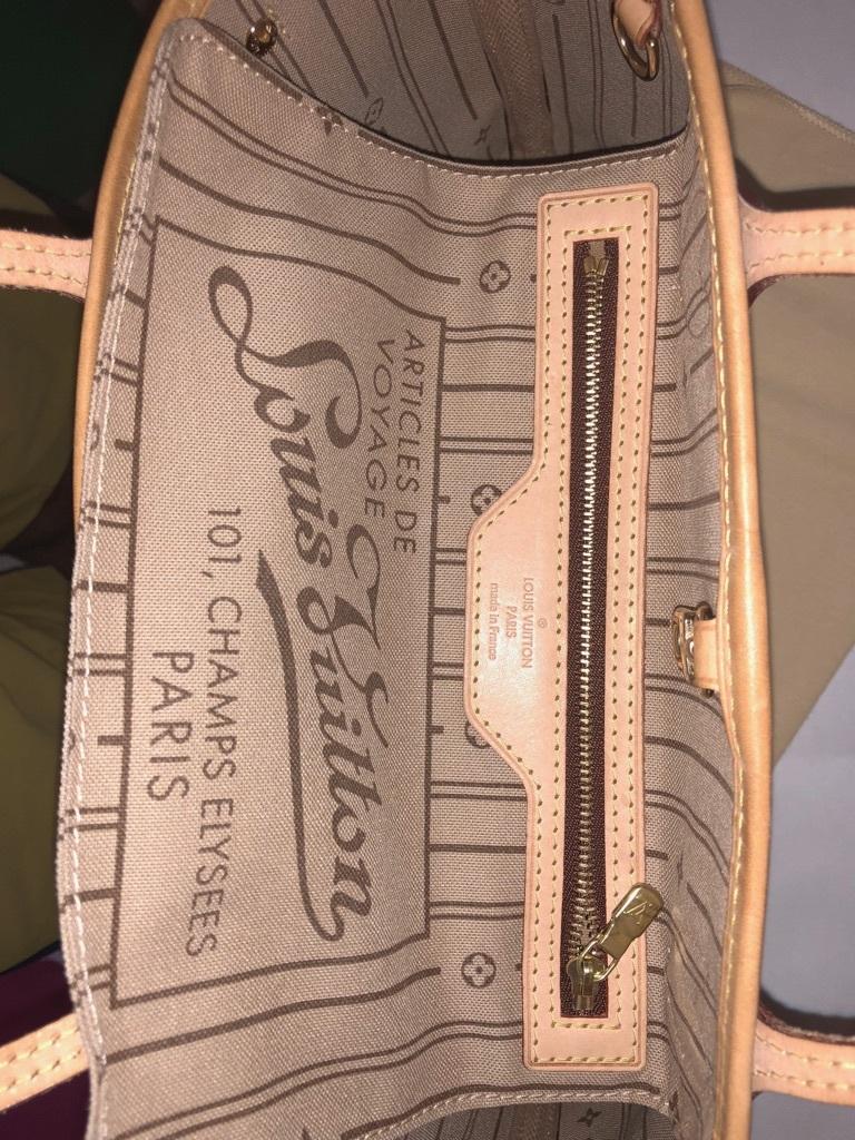 美品 ヴィトン モノグラム ネヴァーフル PM ショルダー トート ハンド バッグ 人気 本物 きれい 1円~ _画像6