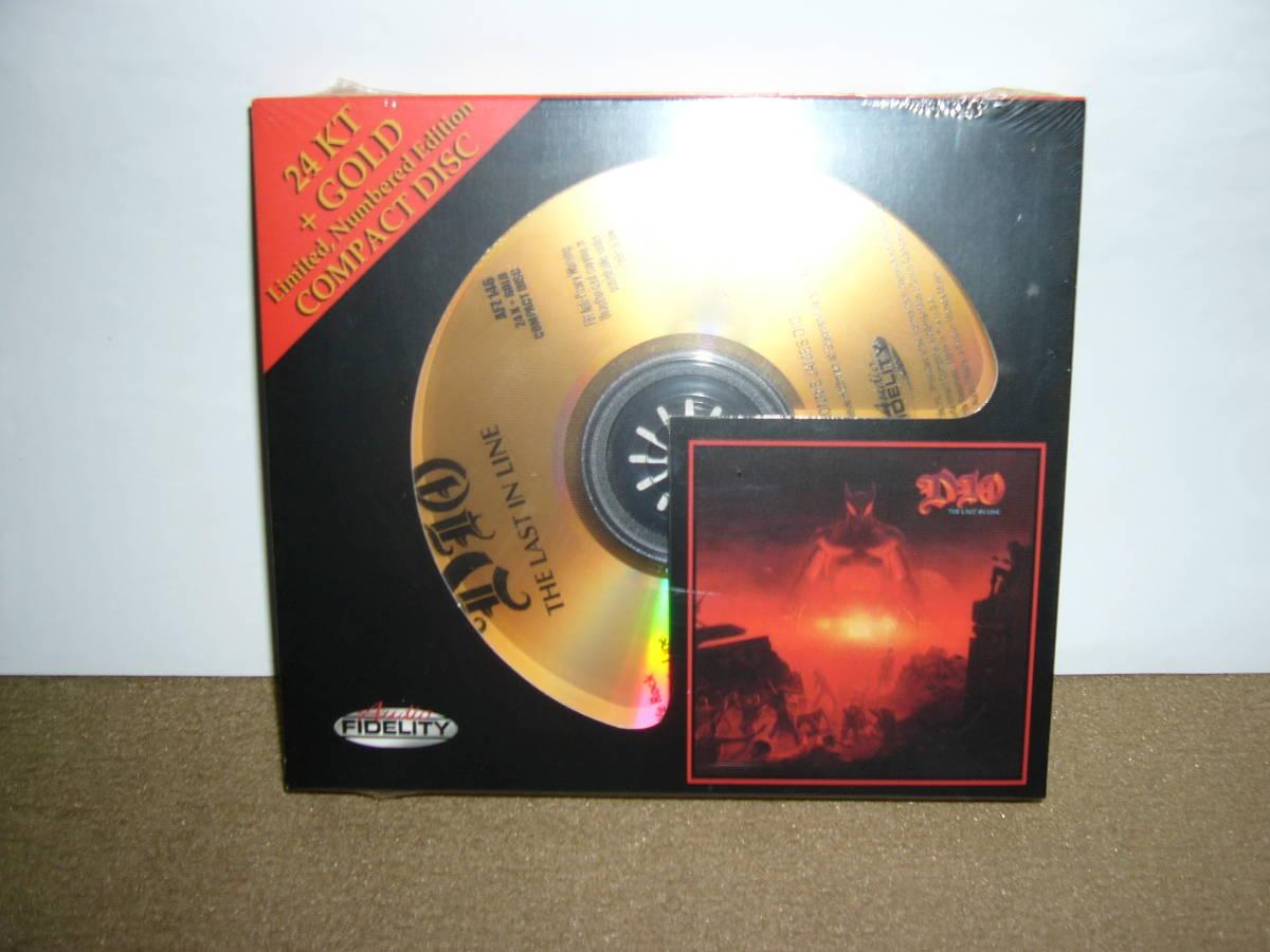 限定盤Audio Fidelity 24KT Gold CD Dio 大傑作2nd「The Last In Line」独自リマスター輸入盤  未開封新品。_画像1