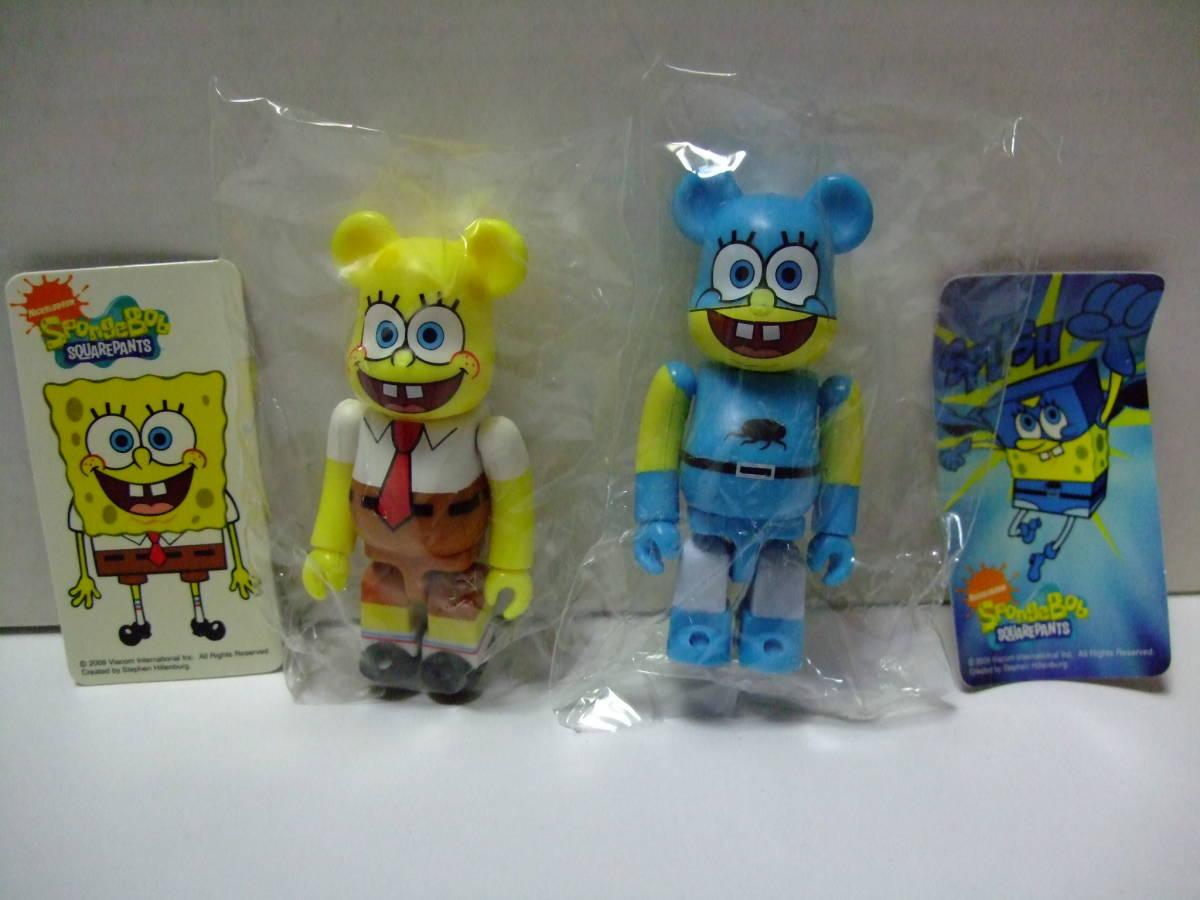 希少 完品 ベアブリック シリーズ18 CUTE SpongeBob シークレットセット (BE@RBRICK スポンジボブ kaws)_画像2