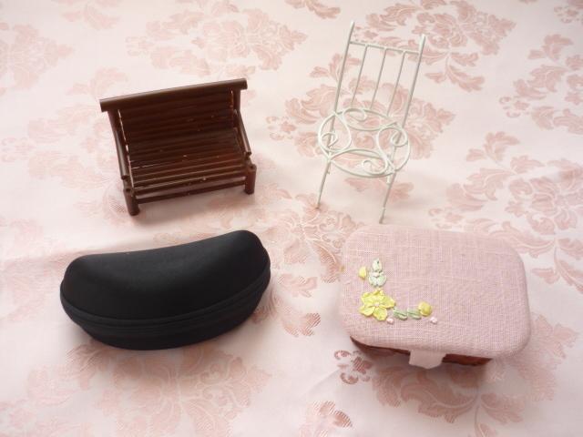 ミニドールサイズ★ドールケース2個 ミニ椅子2個 セット PF ポケットフェアリー