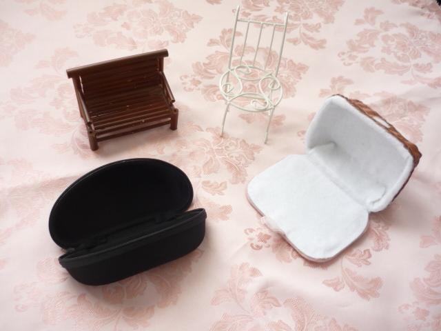 ミニドールサイズ★ドールケース2個 ミニ椅子2個 セット PF ポケットフェアリー_画像2
