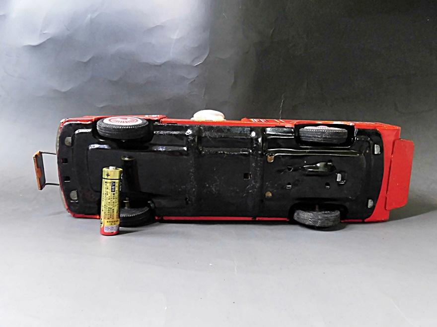 当時物 昭和レトロ ヨネザワ おばQ オバケのQ太郎 ブリキ 消防車 車 はしご フリクション ビンテージ 1960年代_画像6