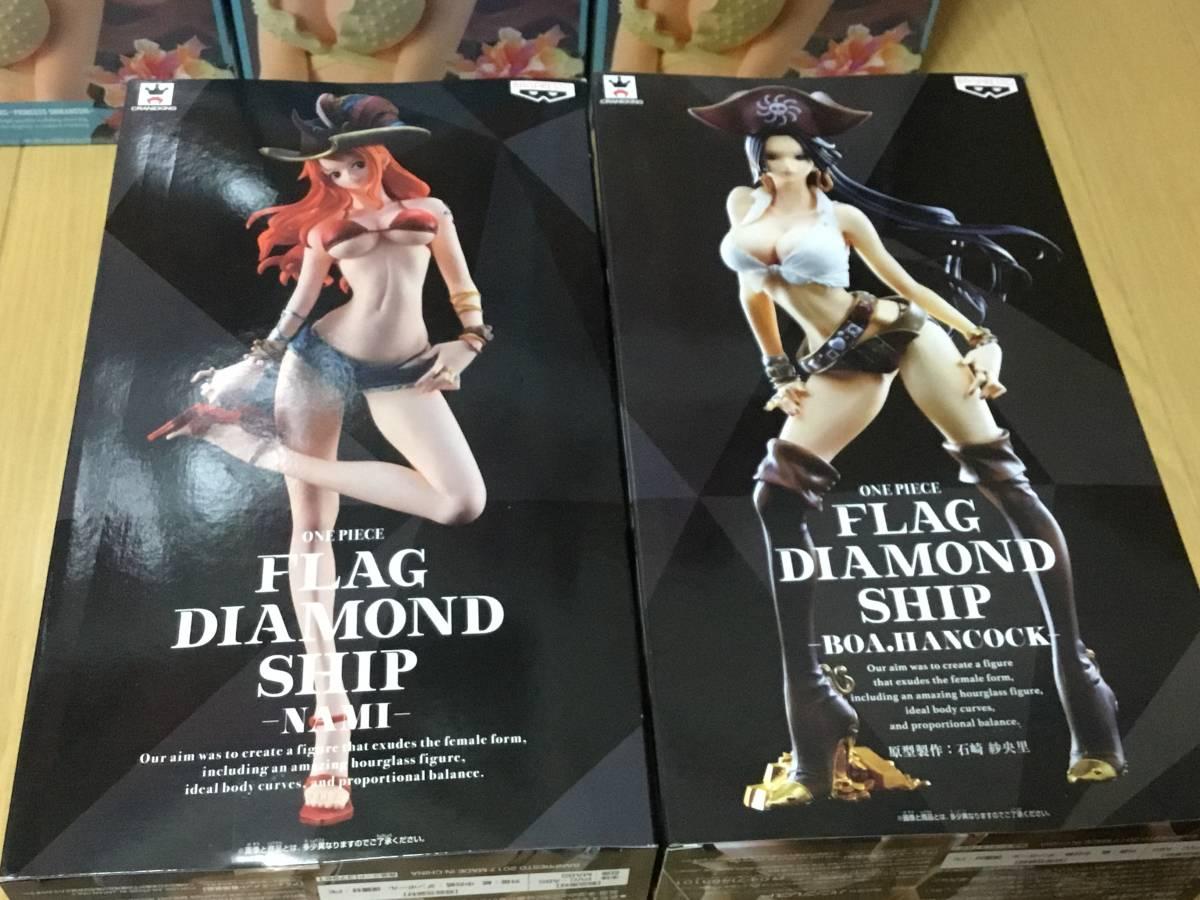 新品■ワンピース フィギュア 大量 20個 まとめ売り セット GLITTER&GLAMOURS FLAG DIAMOND SHIP ナミ ハンコック ビビ しらほし ボニー _画像3