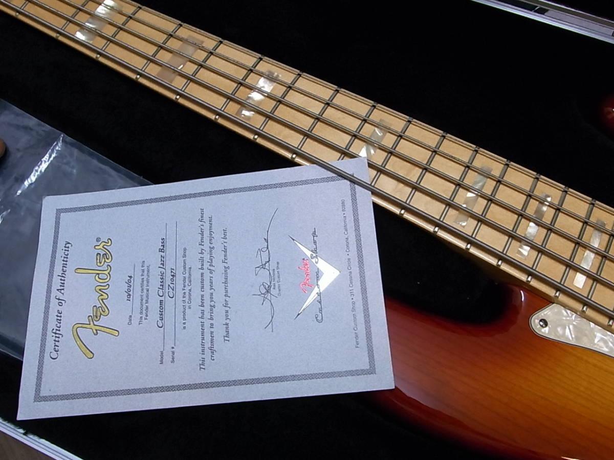 Fender USA/custom shop/custom classic jazz bass 5st new same