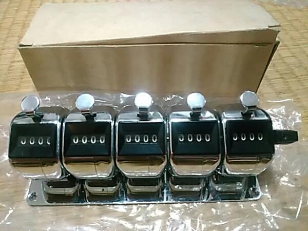 プラス 数取器 5連式 30-929 動作確認済み 送料510円