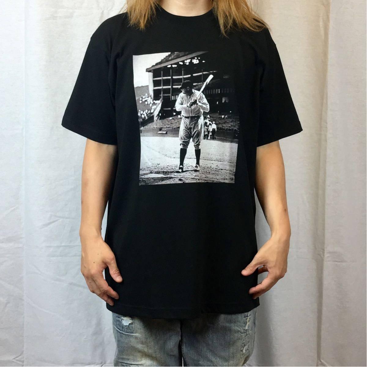 新品 大きい サイズ 専門 XXL~5XL ベーブルース ニューヨーク NY ヤンキース オーバー シルエット ビッグ 黒 Tシャツ ロンT 長袖 対応 OK_画像1