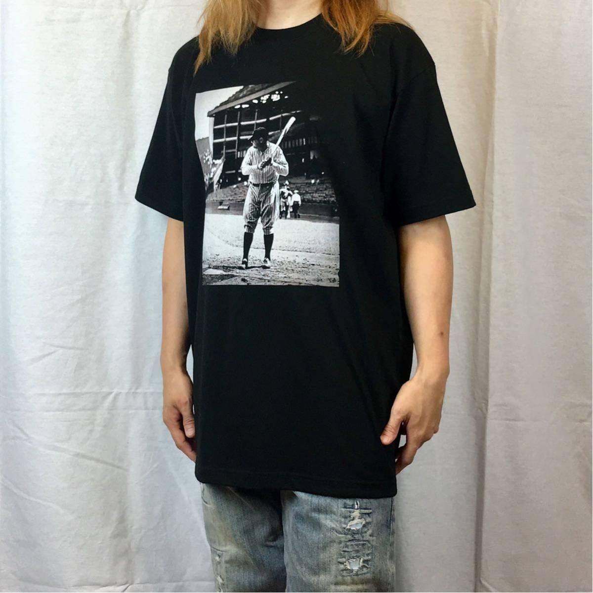 新品 大きい サイズ 専門 XXL~5XL ベーブルース ニューヨーク NY ヤンキース オーバー シルエット ビッグ 黒 Tシャツ ロンT 長袖 対応 OK_画像3