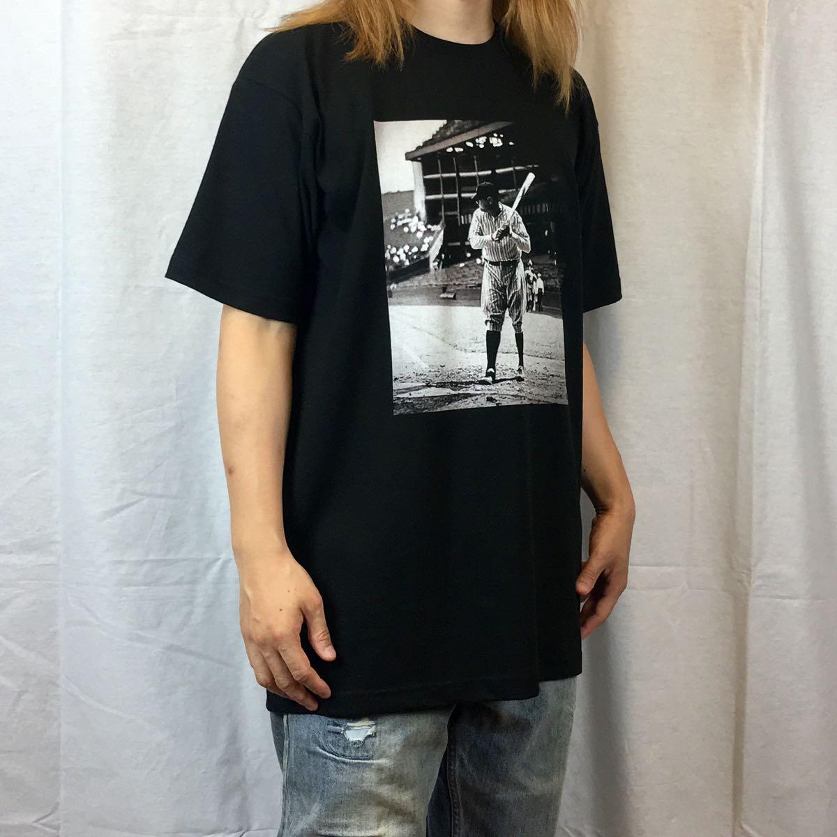 新品 大きい サイズ 専門 XXL~5XL ベーブルース ニューヨーク NY ヤンキース オーバー シルエット ビッグ 黒 Tシャツ ロンT 長袖 対応 OK_画像2