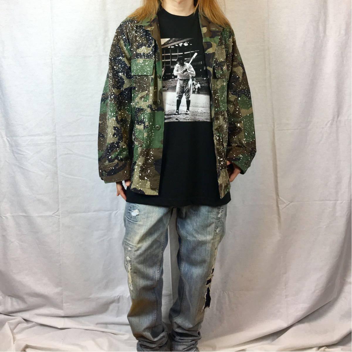 新品 大きい サイズ 専門 XXL~5XL ベーブルース ニューヨーク NY ヤンキース オーバー シルエット ビッグ 黒 Tシャツ ロンT 長袖 対応 OK_画像5