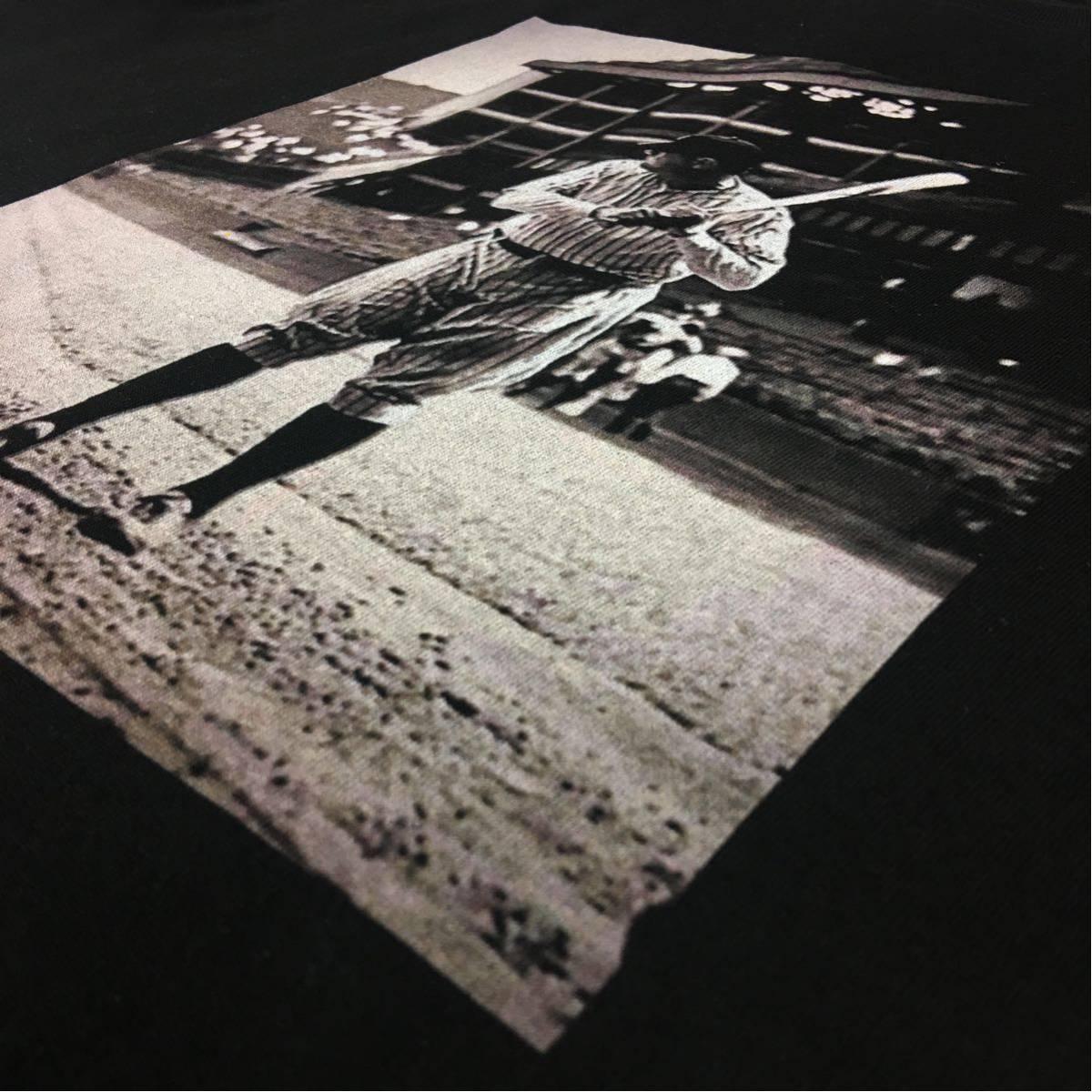 新品 大きい サイズ 専門 XXL~5XL ベーブルース ニューヨーク NY ヤンキース オーバー シルエット ビッグ 黒 Tシャツ ロンT 長袖 対応 OK_画像8
