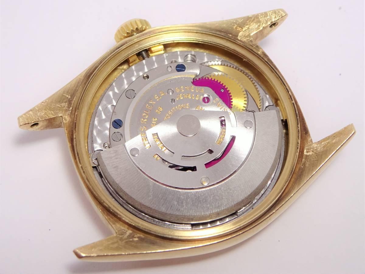 ロレックス デイデイト Ref.1803 YG イエローゴールド 純正ムーブ Cal.1556搭載 メンズ アンティーク 自動巻き 時計 裏蓋 機械画像あり_画像10