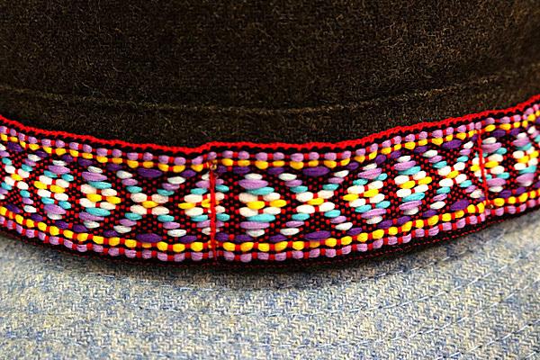 DTT サファリハット メンズ レディース 帽子 サイズ55CM CAP カンカン帽 ワークキャップ ストローハット 麦わら帽子 ウール _画像6