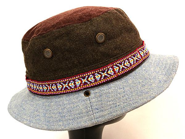 DTT サファリハット メンズ レディース 帽子 サイズ55CM CAP カンカン帽 ワークキャップ ストローハット 麦わら帽子 ウール _画像4