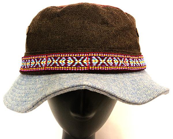 DTT サファリハット メンズ レディース 帽子 サイズ55CM CAP カンカン帽 ワークキャップ ストローハット 麦わら帽子 ウール _画像3
