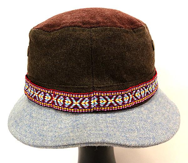 DTT サファリハット メンズ レディース 帽子 サイズ55CM CAP カンカン帽 ワークキャップ ストローハット 麦わら帽子 ウール _画像5