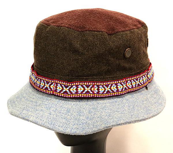 DTT サファリハット メンズ レディース 帽子 サイズ55CM CAP カンカン帽 ワークキャップ ストローハット 麦わら帽子 ウール _画像2