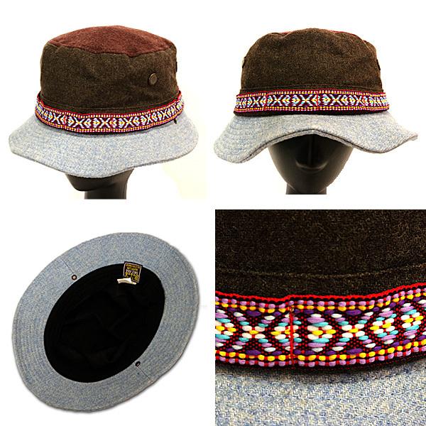 DTT サファリハット メンズ レディース 帽子 サイズ55CM CAP カンカン帽 ワークキャップ ストローハット 麦わら帽子 ウール _画像1