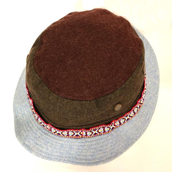 DTT サファリハット メンズ レディース 帽子 サイズ55CM CAP カンカン帽 ワークキャップ ストローハット 麦わら帽子 ウール _画像7