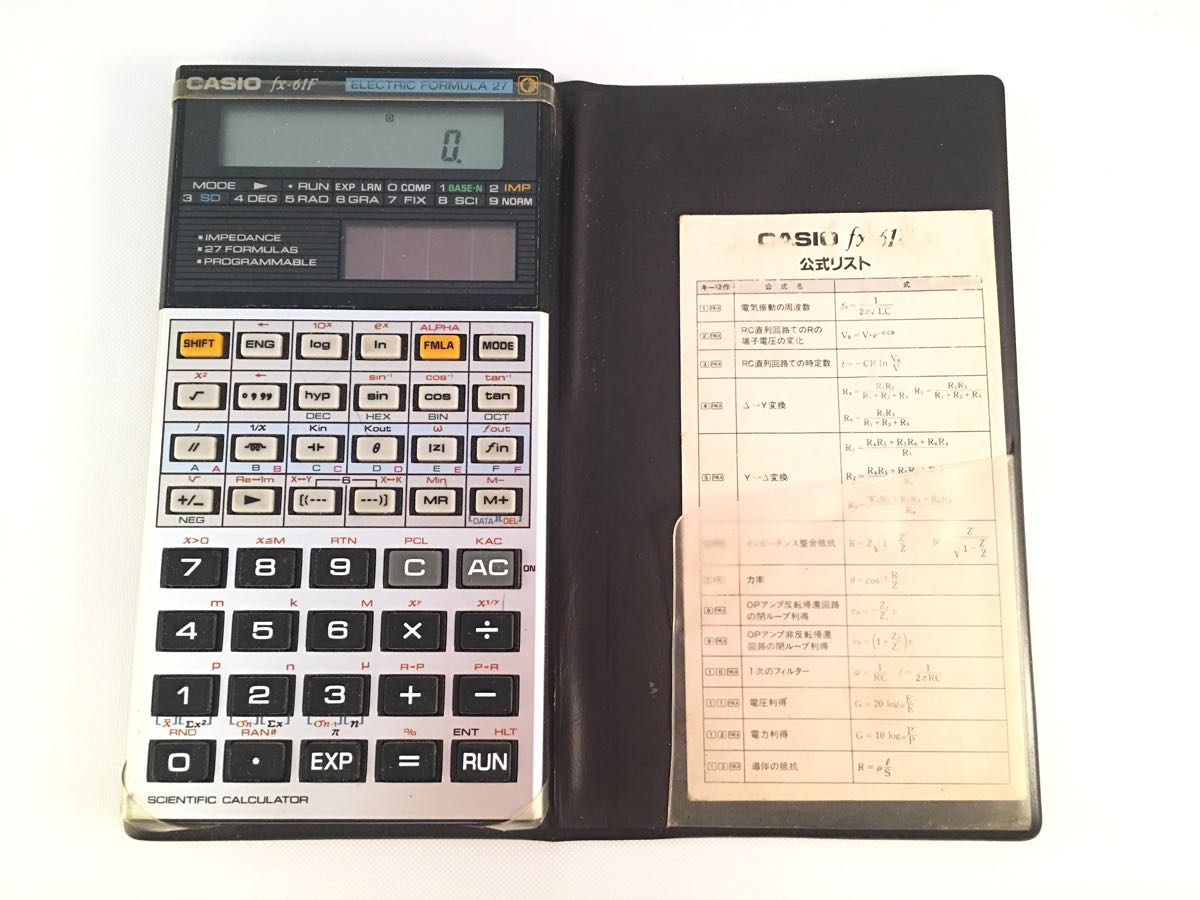 Rare Superior Article Used Scientific Calculator Casio Fx 61f Postage 360 Jpy