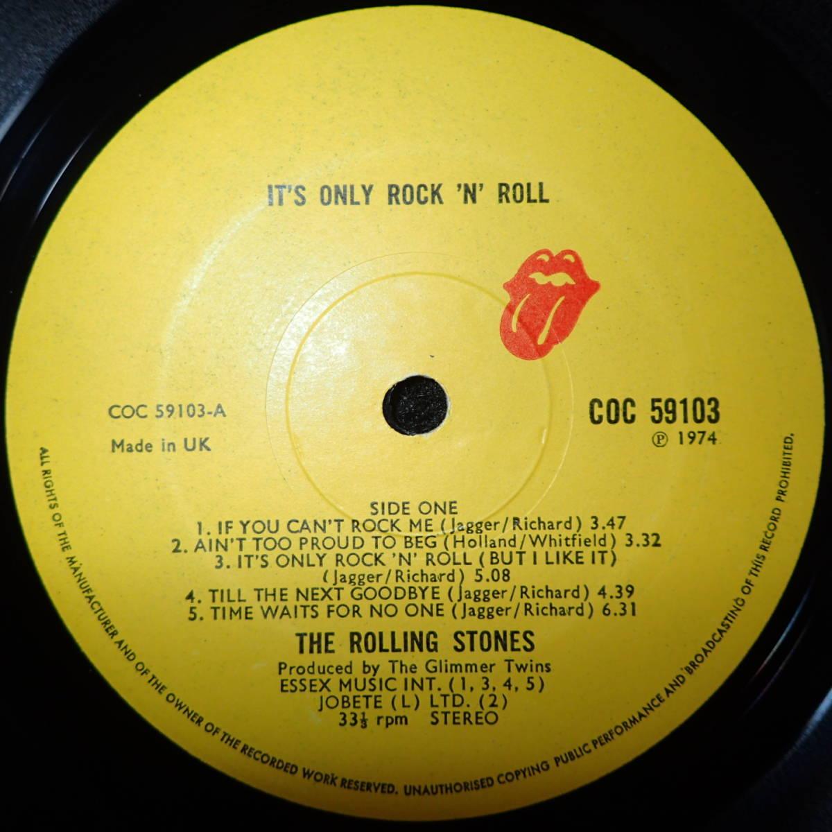 1円開始【超ギガレア★奇跡のRSインナ-付+初回マト★UKオリジナル美品★初回マト/インサート】★THE ROLLING STONES/It's Only Rock' Roll_画像6