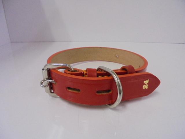 ●小、中型犬(その他動物用) 首輪 レザー赤 定価1,500円 H2035