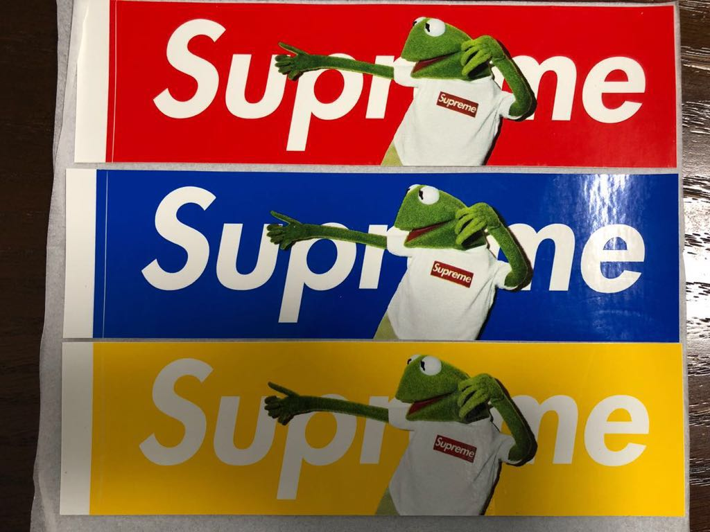 3 Pieces Set New Goods Unused Supreme Kermit Sticker