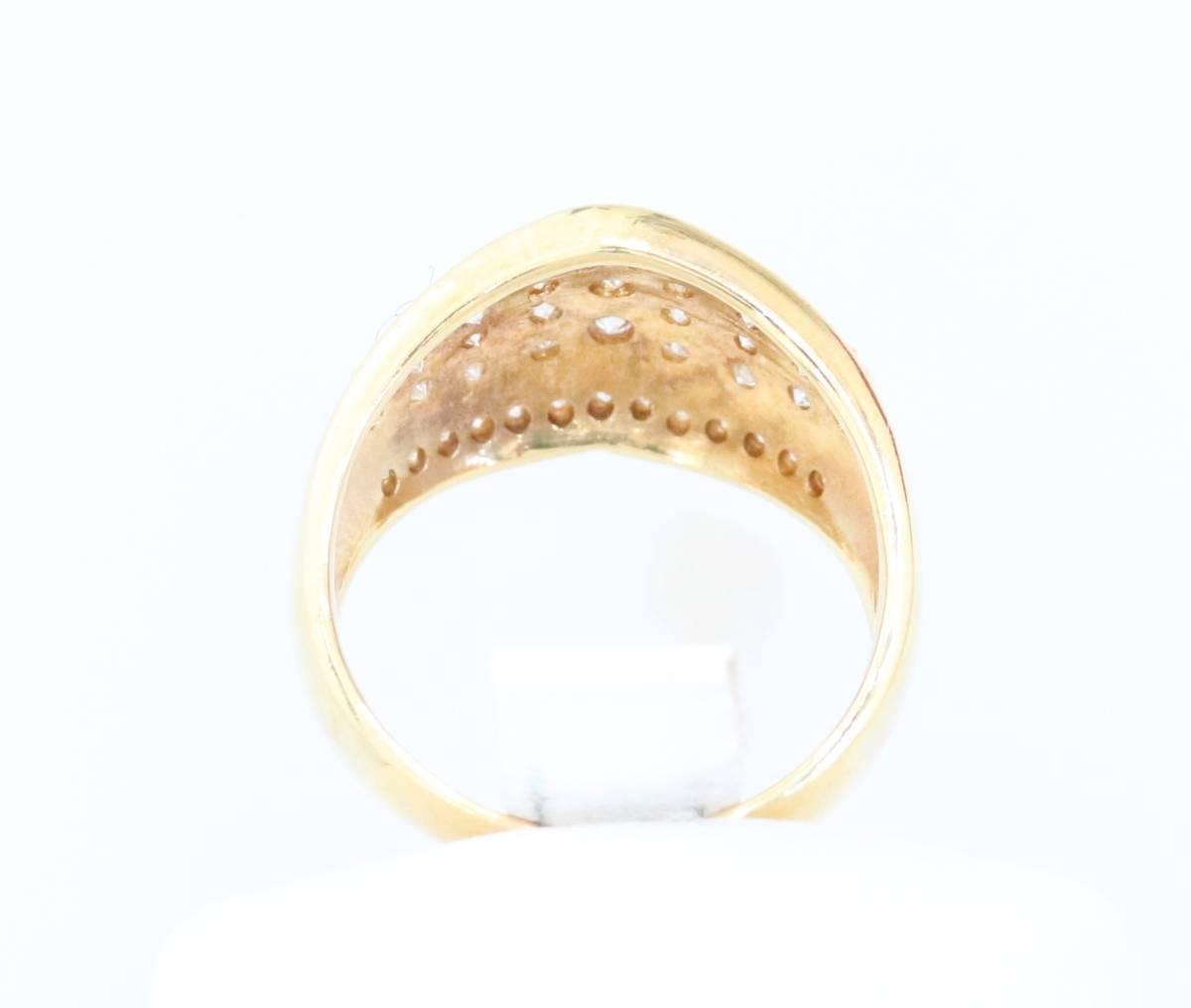 【1円スタート】 ♪★豪華な輝き★天然ダイヤモンド1.03ct K18リング♪ Jewel de Coco_画像5