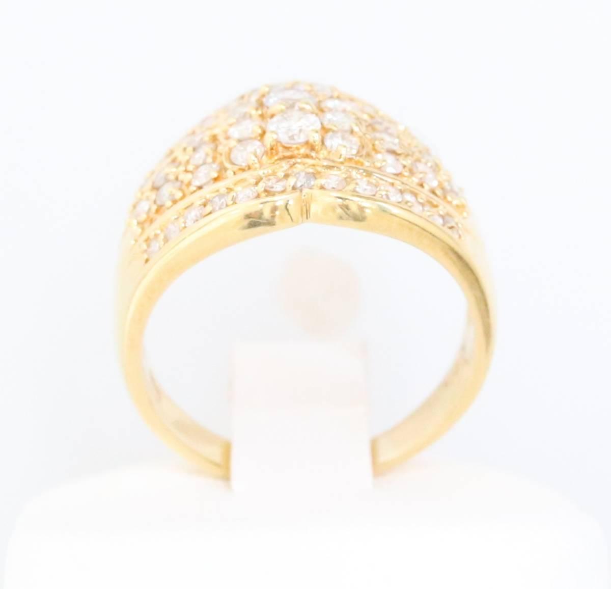 【1円スタート】 ♪★豪華な輝き★天然ダイヤモンド1.03ct K18リング♪ Jewel de Coco_画像4