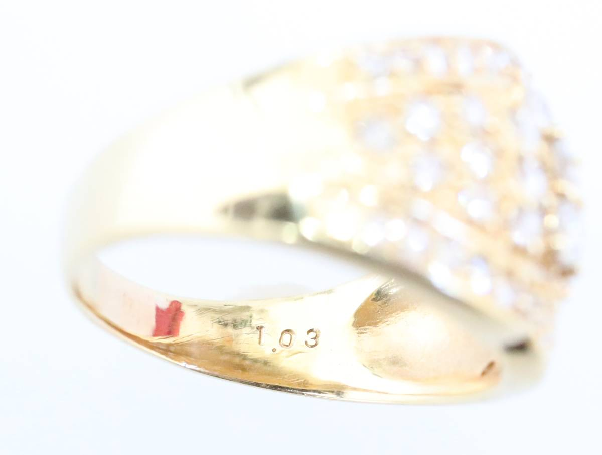 【1円スタート】 ♪★豪華な輝き★天然ダイヤモンド1.03ct K18リング♪ Jewel de Coco_画像2