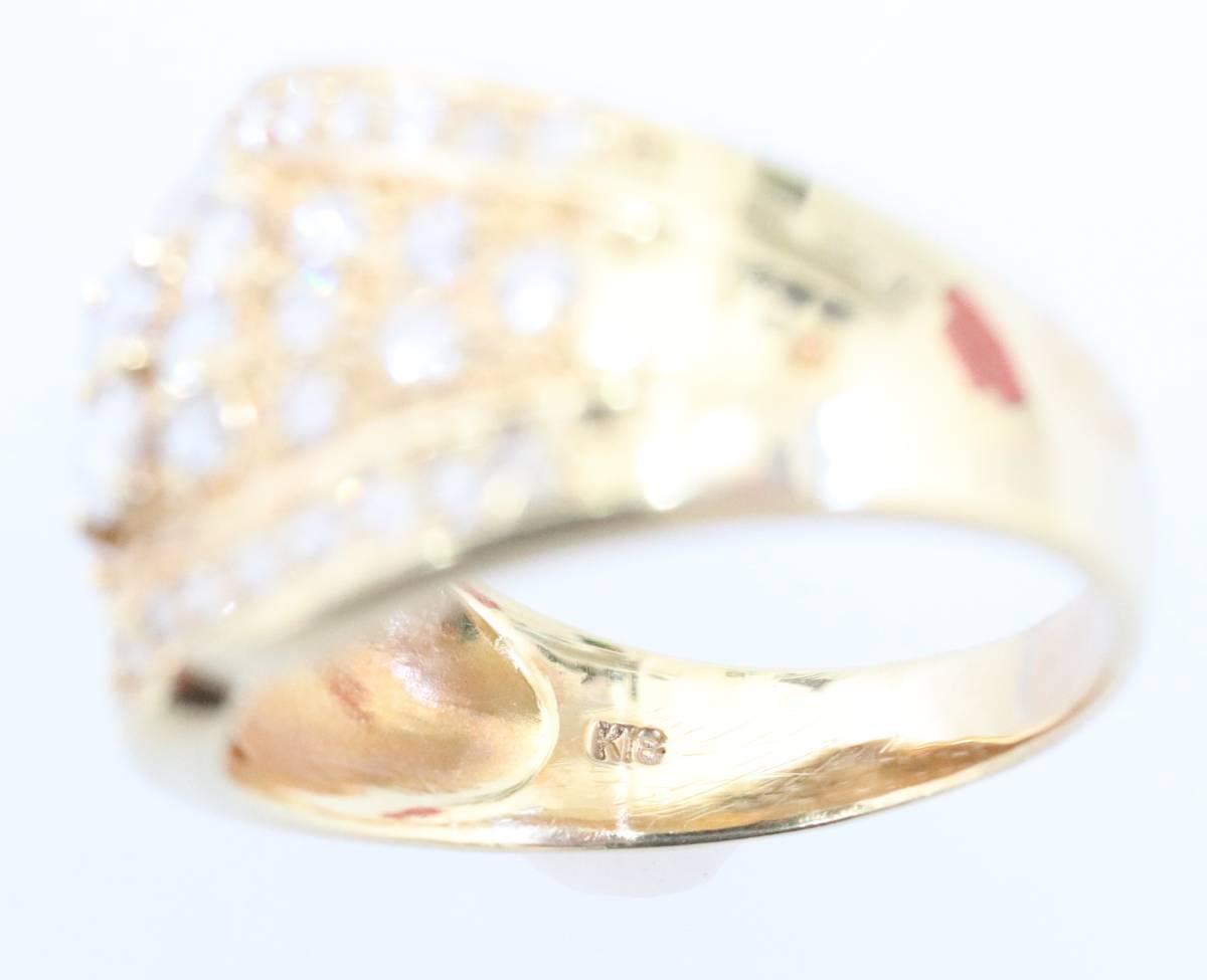 【1円スタート】 ♪★豪華な輝き★天然ダイヤモンド1.03ct K18リング♪ Jewel de Coco_画像3