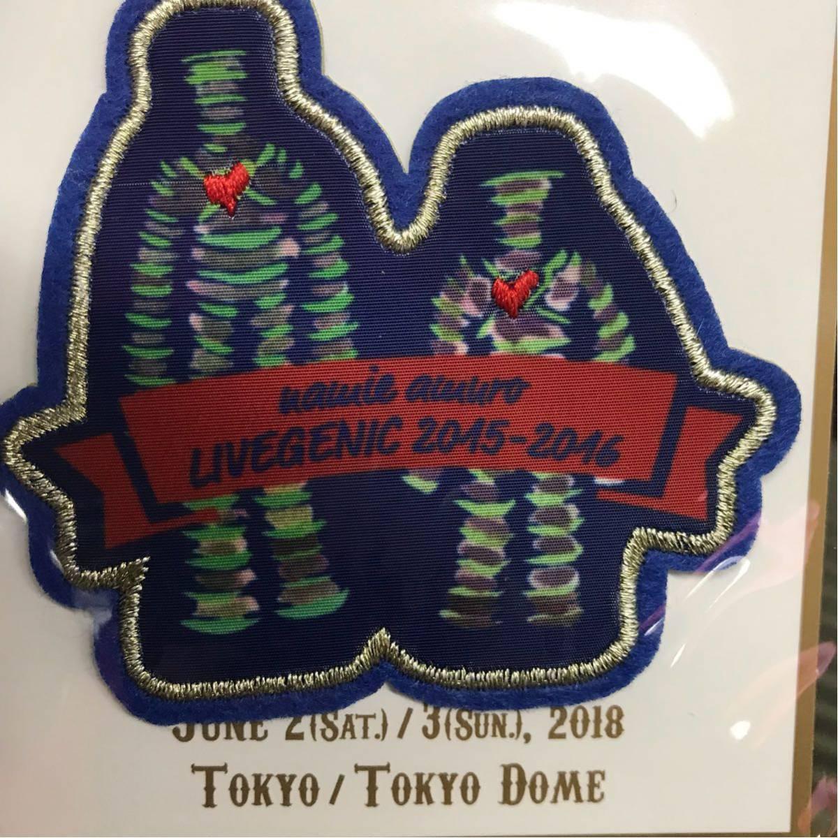 安室奈美恵 finally ツアーグッズ ワッペン 東京 安室ちゃん 刺繍ワッペン 東京ドーム 最終_画像1