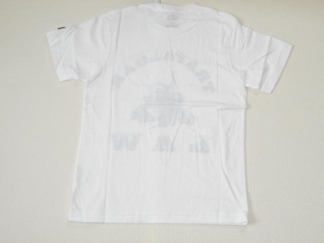 UNIQLO ONE PIECE ロー 半袖Tシャツ ホワイト XSサイズ ワンピース グラフィックT ユニクロ★新品未使用_画像2
