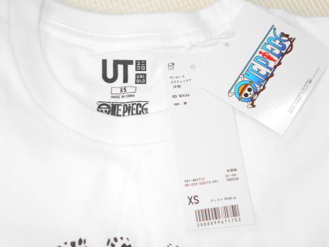 UNIQLO ONE PIECE ロー 半袖Tシャツ ホワイト XSサイズ ワンピース グラフィックT ユニクロ★新品未使用_画像3