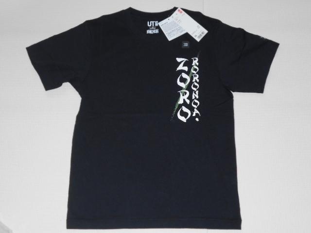 UNIQLO ONE PIECE ゾロ 半袖Tシャツ ブラック XSサイズ ワンピース グラフィックT ユニクロ★新品未使用_画像1