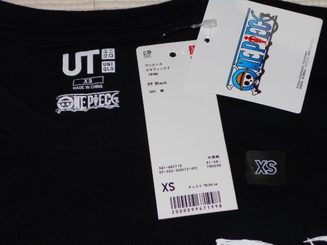 UNIQLO ONE PIECE ゾロ 半袖Tシャツ ブラック XSサイズ ワンピース グラフィックT ユニクロ★新品未使用_画像3