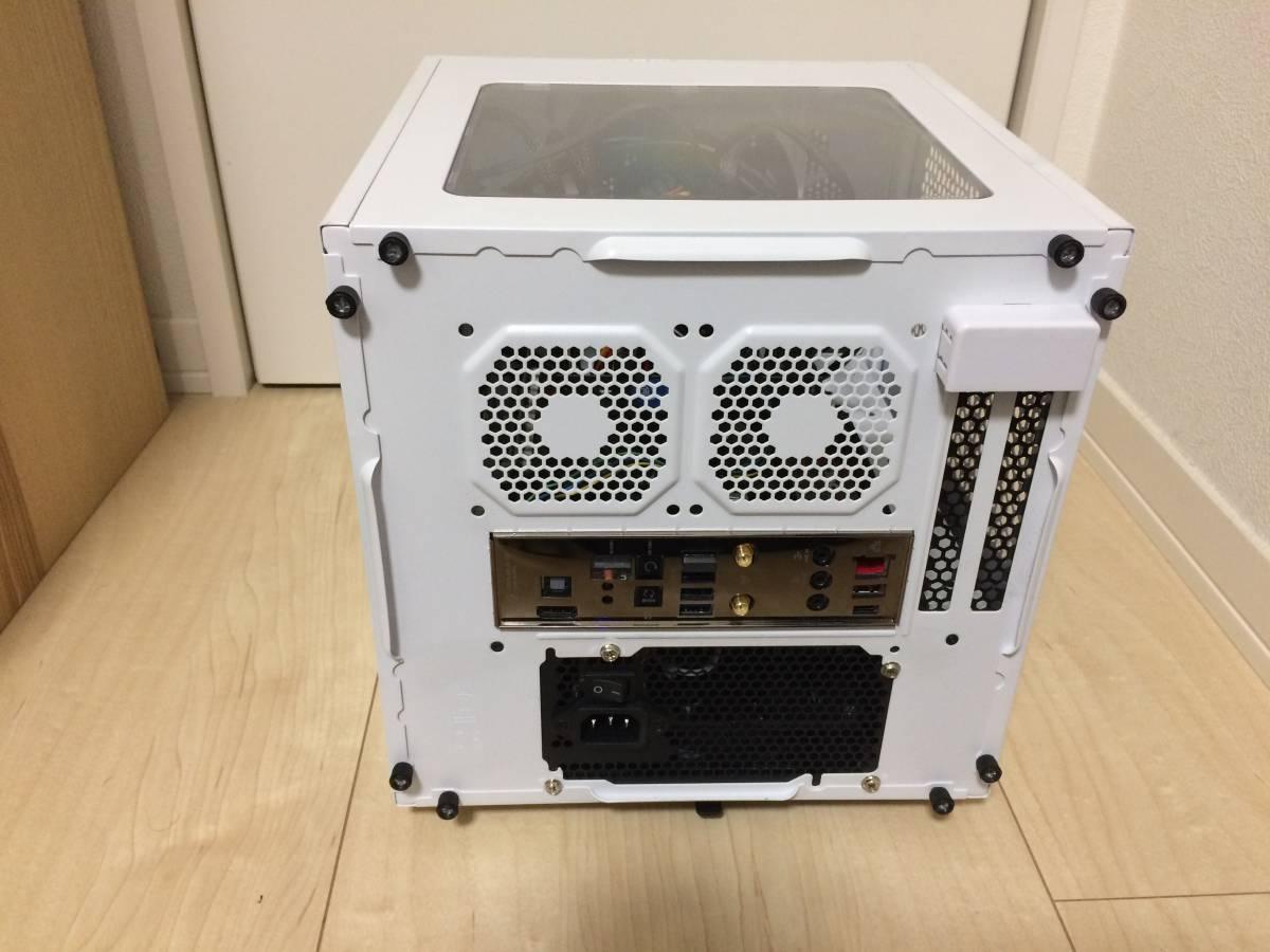 中古 改造ベース 自作 PC Mini-ITX Thermaltake ホワイト ケース ASUS ROG MAXIMUS Ⅷ IMPACT 1TB HDD G.skill メモリ Windows 10 認証済_画像3