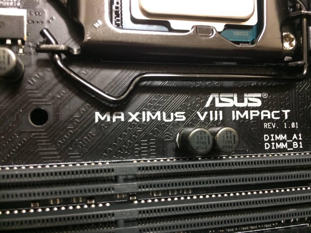 中古 改造ベース 自作 PC Mini-ITX Thermaltake ホワイト ケース ASUS ROG MAXIMUS Ⅷ IMPACT 1TB HDD G.skill メモリ Windows 10 認証済_画像6