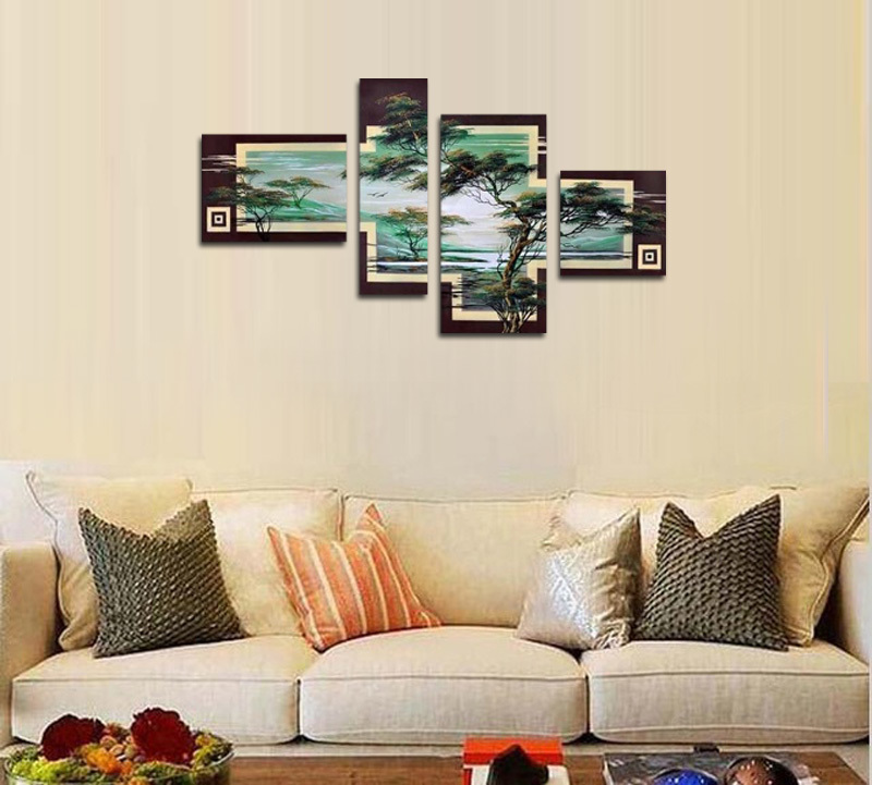 アートパネル 『松Ⅲ』 30x60cm、1枚他、計4枚組 手書き_画像3