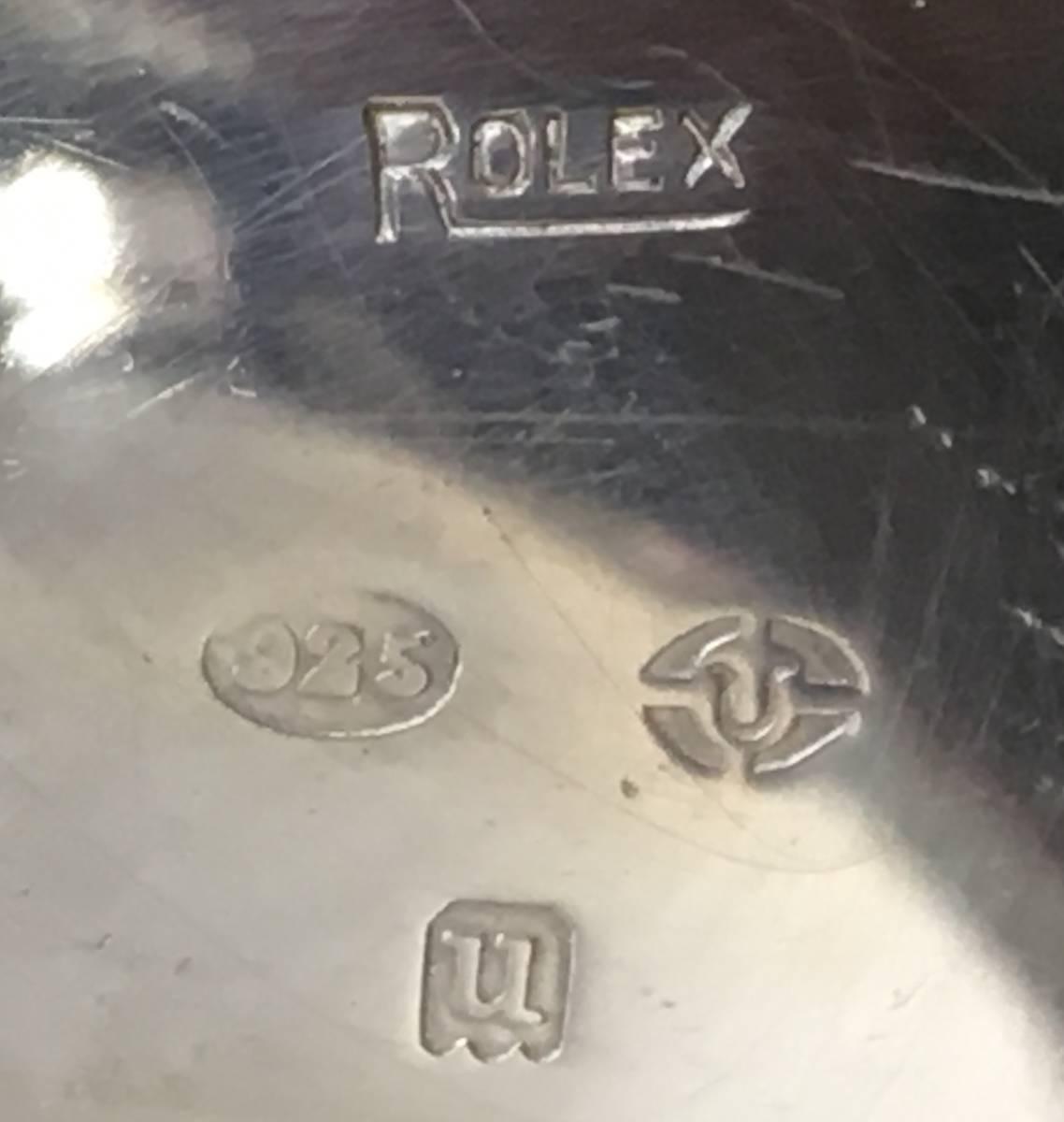 1916年希少アンティークRolex懐中時計!純銀ロレックス本物保証・ホールマーク有!味わいの逸品!手巻き_画像3