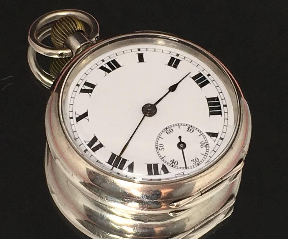 1916年希少アンティークRolex懐中時計!純銀ロレックス本物保証・ホールマーク有!味わいの逸品!手巻き_画像2