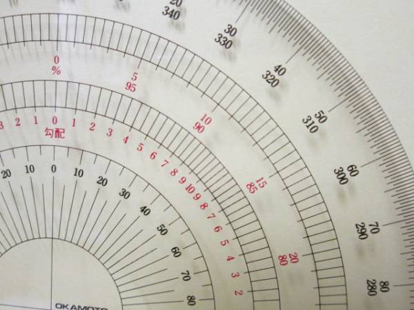 #全円分度器 15cm // 岡本製図器 #39-2015 BO-15_画像3
