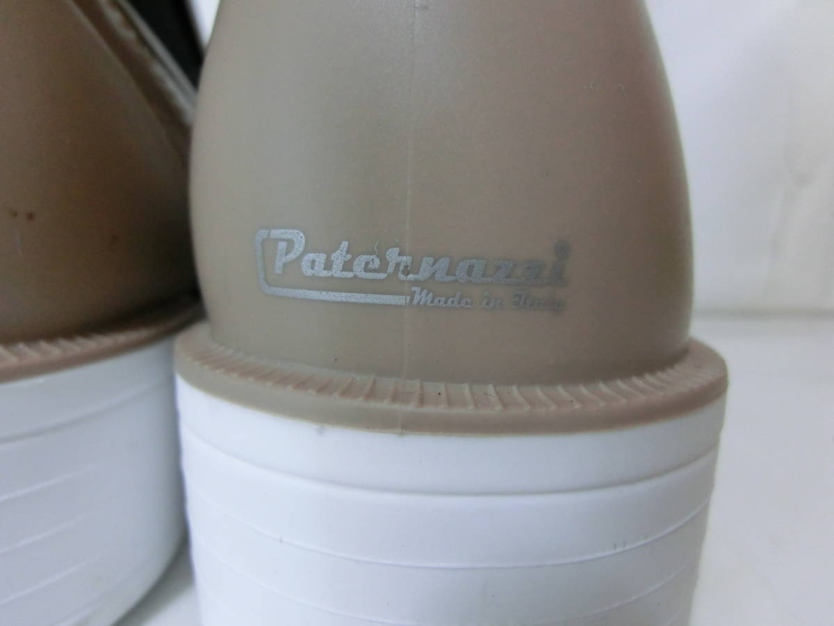 PATERNAZZIパテルナッツィ★イタリア製サイドゴアレインブーツ美品38 24cm_画像10