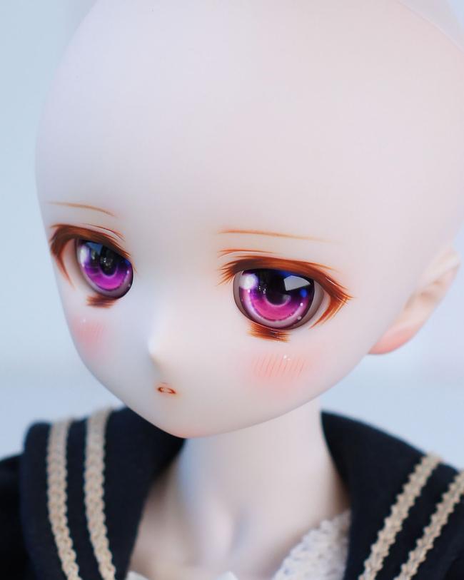 meltingpot★DDH-01 セミホワイト肌 カスタムヘッド+アイ_画像9