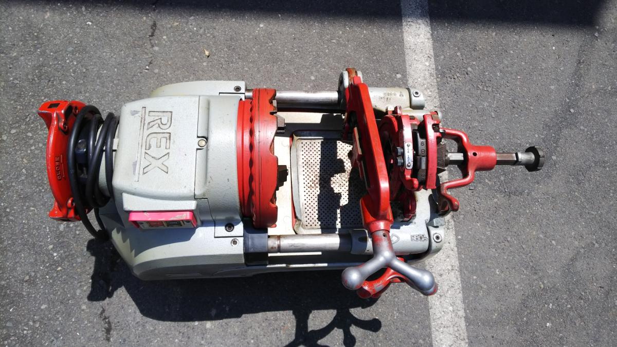 RAX レッキス ねじ切り機 S80AⅢ 100V パイプマシン ネジ加工 100ボルト 電動 カバー付き