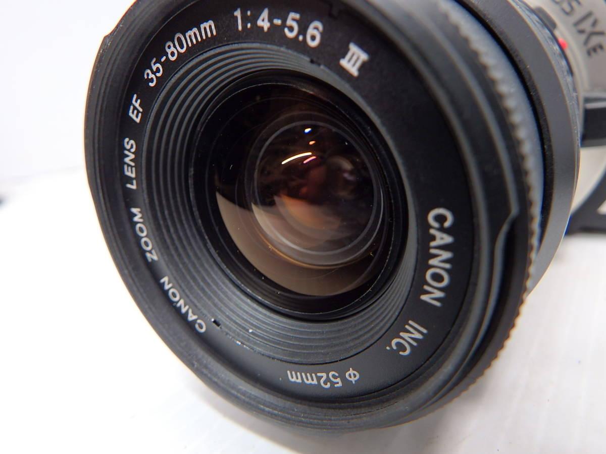 キヤノン APS一眼レフカメラ EOS IX E レンズ EF 35-80mm f4-5.6 Ⅲ 広角~標準ズーム 取説 純正バッグ付き canon 管クモロ606_画像3
