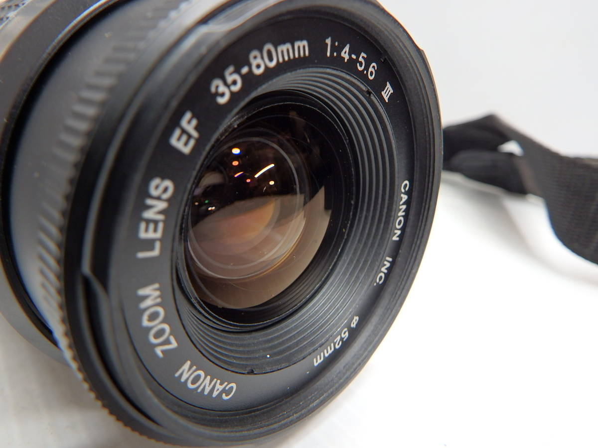 キヤノン APS一眼レフカメラ EOS IX E レンズ EF 35-80mm f4-5.6 Ⅲ 広角~標準ズーム 取説 純正バッグ付き canon 管クモロ606_画像2
