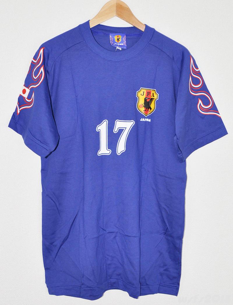 【サッカー/新品】98日本代表ナンバーTシャツ#17秋田豊【JFAオフィシャル】_画像2