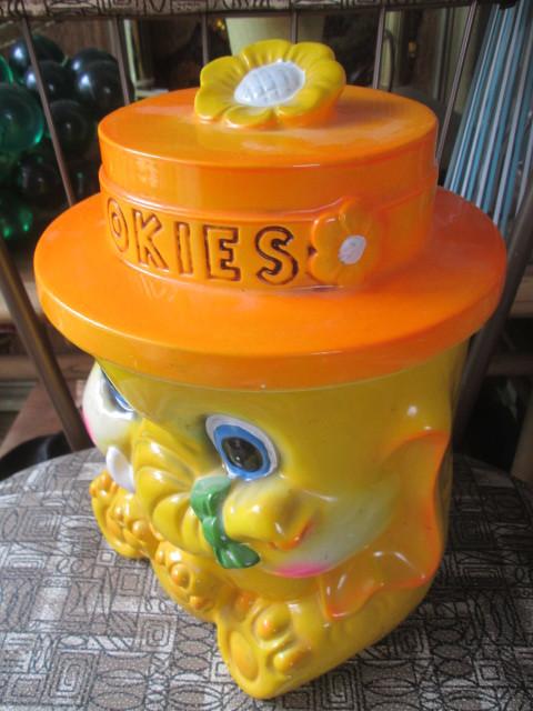 70's アメリカアンティーク ぞうのクッキージャー レトロUSAビンテージ/蚤の市アメリカ雑貨店舗ヒッピーキノコ西海岸アドバタイジング_画像2