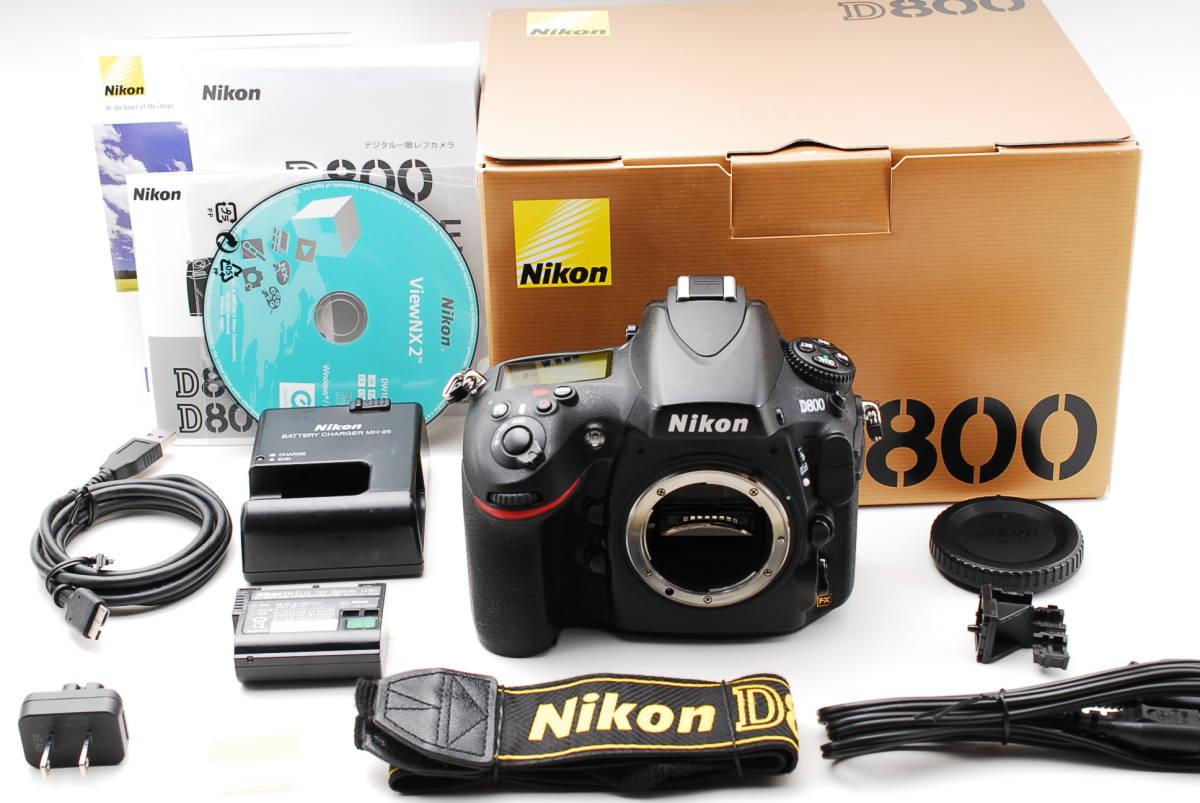 ★極上品★ニコン Nikon D800 付属品充実 元箱付き 非常に綺麗です!! #112