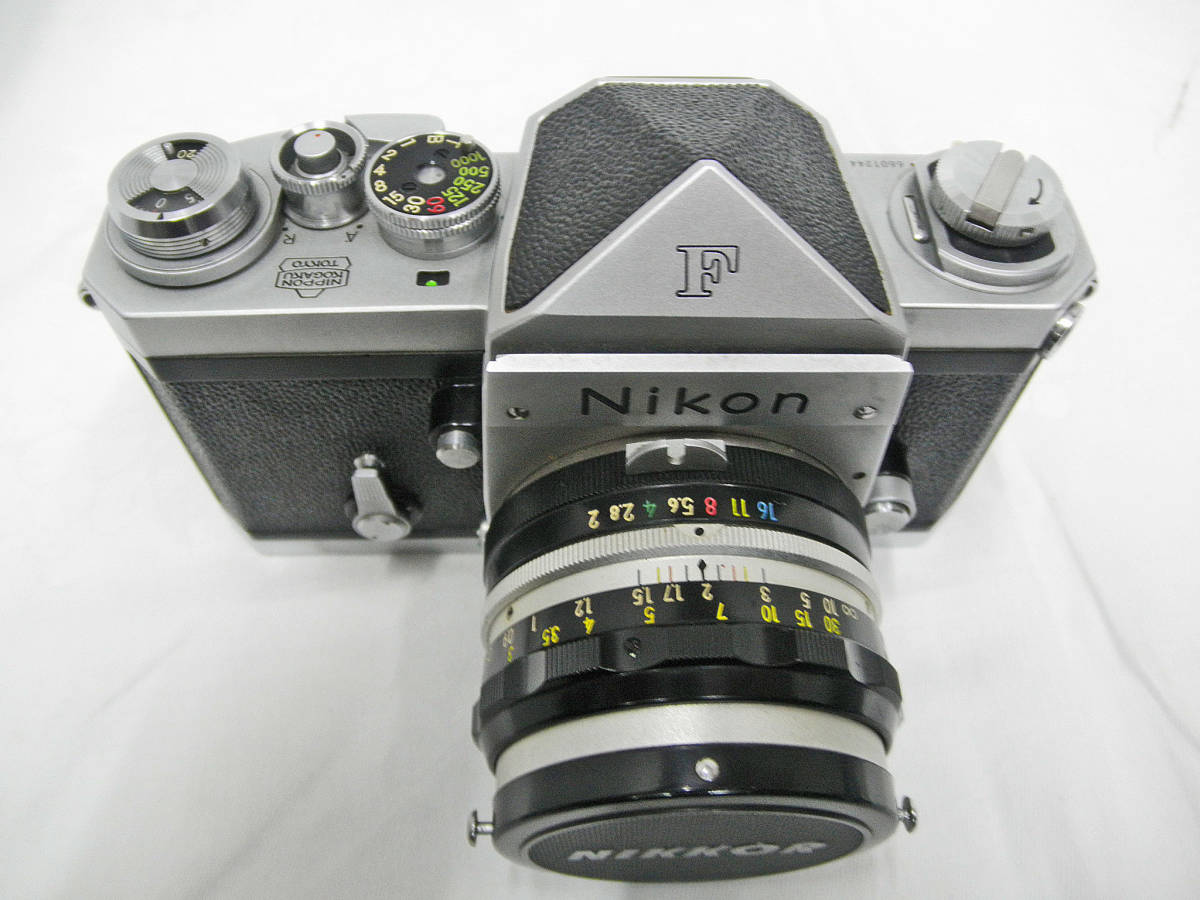 ☆Used ニコン F No.6601244 レンズ・ケース・取説 付 ☆_画像9